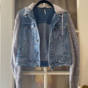 Free People Denim Jacket / Sweatshirt